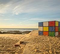 Maroubra tengerpart és a Rubik-kocka