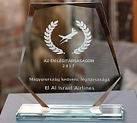 Az Én Légitársaságom 2017 díjátadó - A hazai utazóközönség értékelései alapján 2017-ben az El Al Israel Airlines volt az év légitársasága