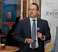Az Én Légitársaságom 2017 díjátadó - Bíró Balázs a Travelport Magyarország képviselője előadást tart