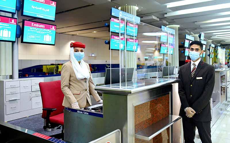 Emirates óvintézkedések a reptéren!