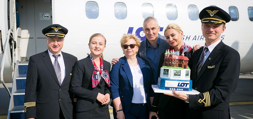 Budapest-Krakkó járatot indított a LOT!