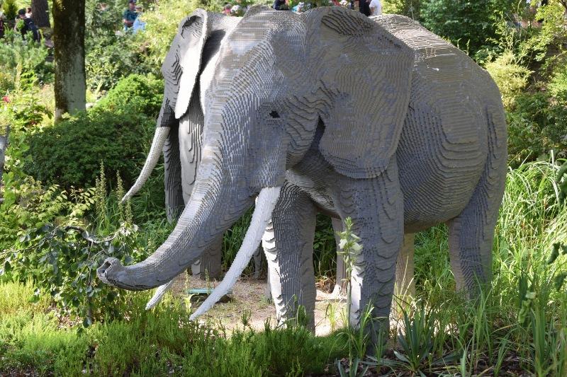 Legó-elefánt a Legoland vidámparkban