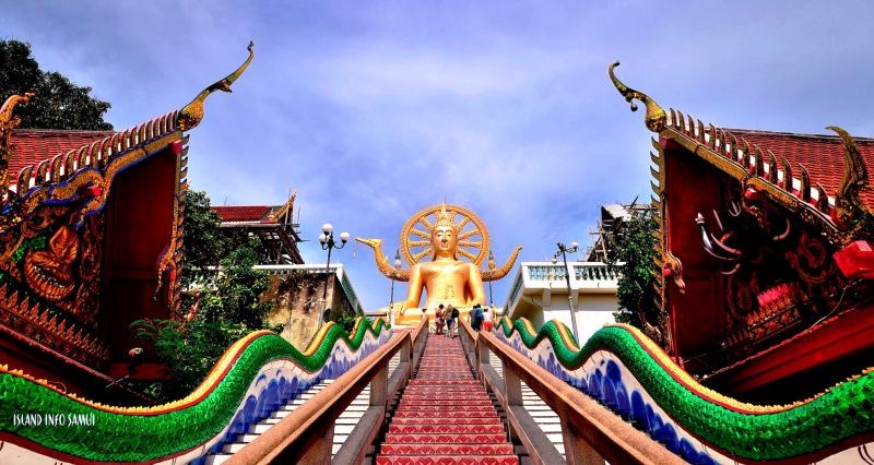 A Wat Phra Yai taláható Buddha szobor