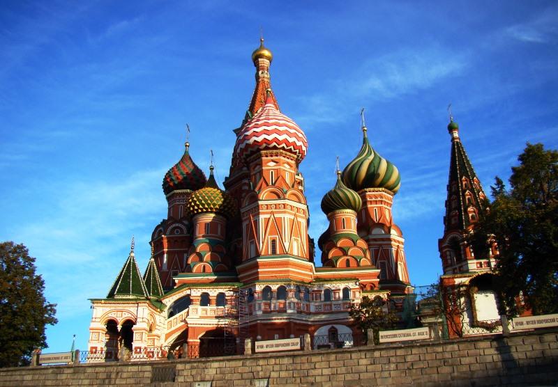 Moszkva egyik legjelentősebb és legismertebb építészeti emléke a Vaszilij Blazsennij-székesegyház