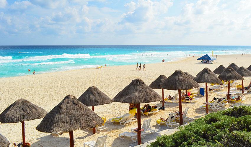 Cancun tengerparti strand
