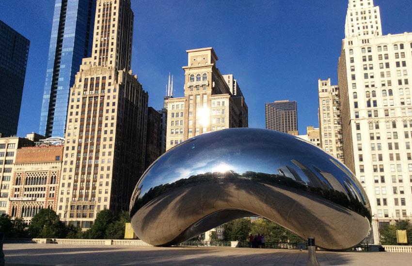 Chicago egyik legismertebb látványossága a Millennium Park