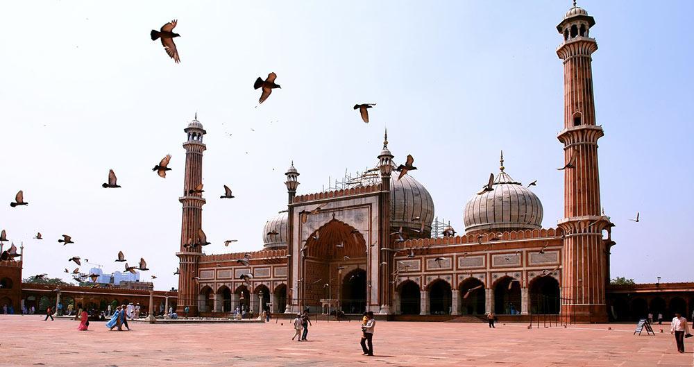 Az egyik legnagyobb mecset Indiában, a Jama Masjid