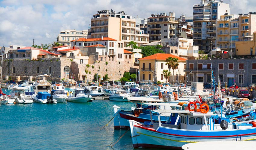 Heraklion városa Kréta keleti részén