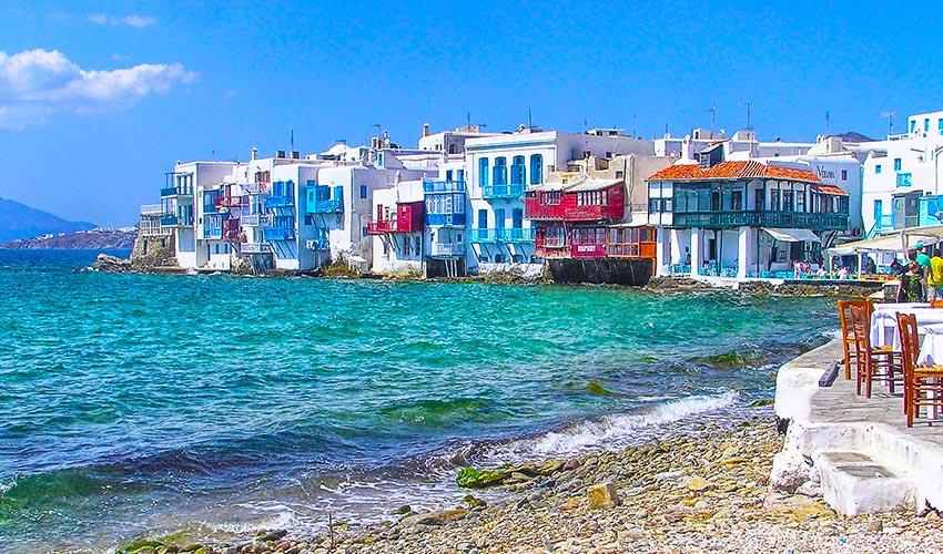 Mikonosz sziget Görögországban