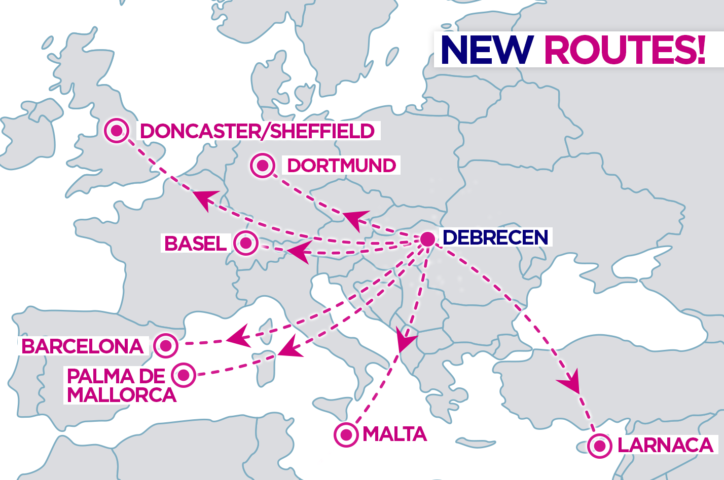 Wizz Air útvonalak