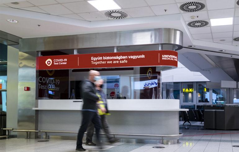 Koronavírus tesztközpont nyílt a budapesti repülőtéren