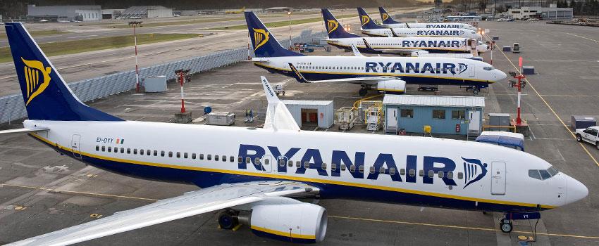 A Ryanair légitársaság repülőgépei