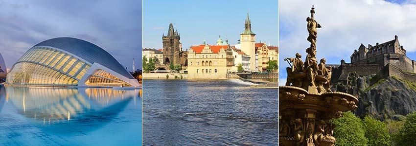 Valencia - Prága - Edinburgh - repjegy.hu