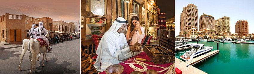 Katar fővárosában több lehetőség van kikapcsolódásra: iszlám művészetek, kulturális programok, tengerparti élmények, különleges helyi termékek megismerése
