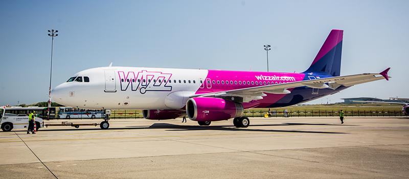 Wizz Air légitársaság repülőgépe